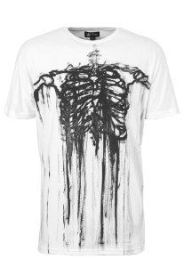 Camiseta Long White Skull