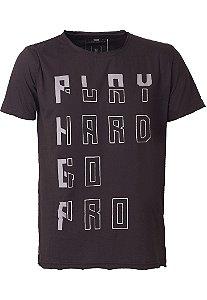 Camiseta Play Hard Go Pro Chumbo