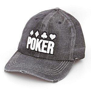 Boné Dad Hat Poker Cinza