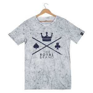 Camiseta Royal Signature Logo Sky