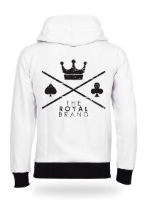 Moletom Royal Brand Logo White