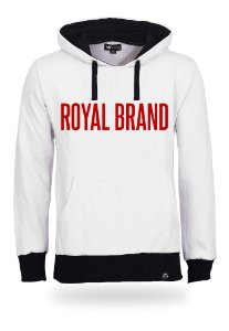 Moletom Royal Brand White & Red