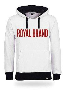 Moletom Royal Brand White & Red