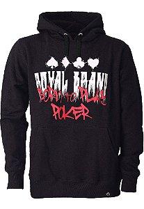 Moletom Born To Play Poker Black