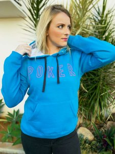 Moletom Feminino Poker Blue