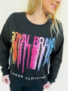 Blusa Manga Longa Royal Brand Painted