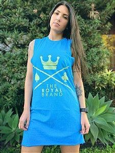 Vestido Royal Brand Logo Azul