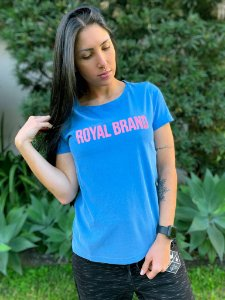 Camiseta Feminina Royal Brand Azul