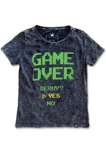 Camiseta Feminina Game Over Sky