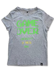 Camiseta Feminina Game Over Mescla