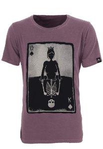 Camiseta King Queen Bordô