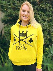 Moletom Feminino Royal Logo Amarelo