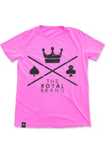 Camiseta Royal Signature Logo Rosa
