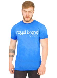 Camiseta Long Royal Brand Suits Azul