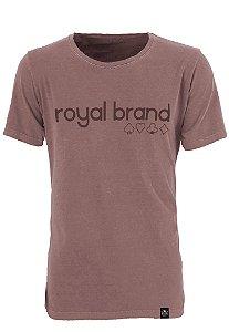Camiseta Royal Signature Logo Marrom