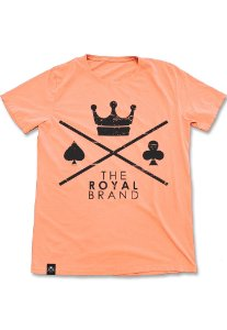 Camiseta Royal Signature Logo Laranja