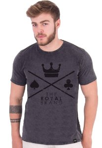 Camiseta Royal Signature Logo Marmorizado