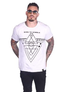 Camiseta Born To Gamble Branco