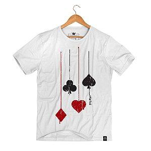 Camiseta Poker Suits Ink Branco