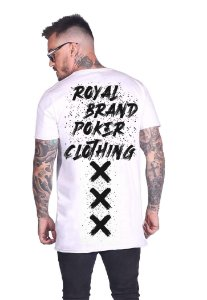 Camiseta Long Royal Brand XXX Branco