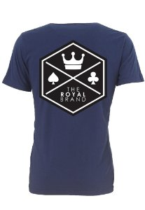 Camiseta Royal Signature Back Logo Marinho