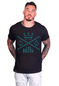 Camiseta Royal Logo Empty Preto