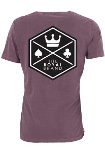 Camiseta Royal Signature Back Logo Bordô