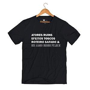 Camiseta PeeWee Eu Amo Esse Filme Preto