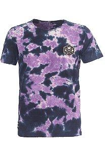 Camiseta Royal Logo Tie Dye Purple