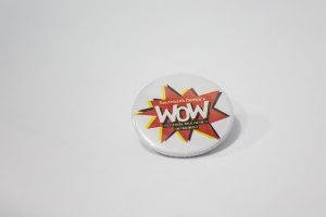 Botton WOW - Branco