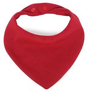 Babador Bandana em Malha Comfort Vermelho