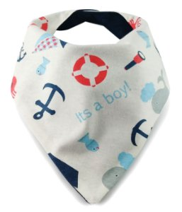 Babador Bandana com Estampa Navy Fundo do Mar