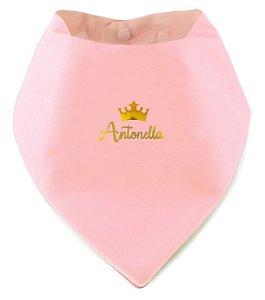 Babador Bandana Personalizado Rosa Bebê