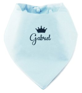 Babador Bandana Personalizado Azul Bebê
