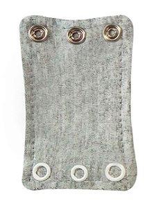 Extensor de Body com 3 botões Cinza Mescla