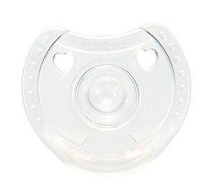 Chupeta de Silicone Soft Comfort Kuka Transparente Fase 1 (0 a 6 meses)