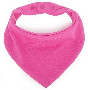 Babador Bandana em Malha Comfort Rosa Chiclete