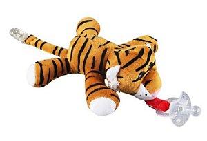 Prendedor De Chupeta e Naninha de Pelúcia Animais Tigre