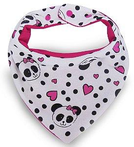 004 Babador Bandana Super Comfort Panda Pink