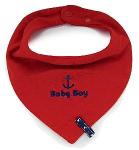 Babador Bandana Baby Boy Com Prendedor de Chupeta Fixo