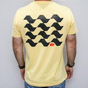 Camiseta Slim Calçada SP Amarela