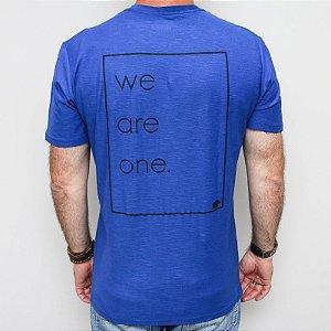 Camiseta Flamê Slim We Are One Azul