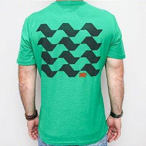 Camiseta Flamê Slim Calçada SP Verde
