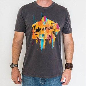Camiseta Estonada Slim Urso Paint