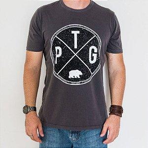 Camiseta Estonada Slim PTG SP Cinza