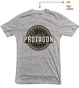 Camiseta Protagon DNA - Cinza Mescla