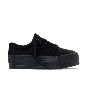 Tênis Capricho Break Plataforma Suede - All Black