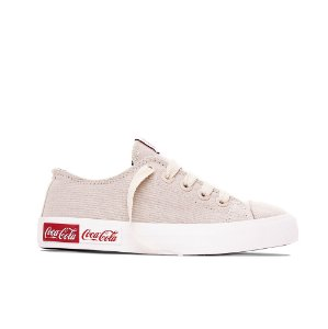 Tênis Coca-Cola Basket Blend Canvas - Off White
