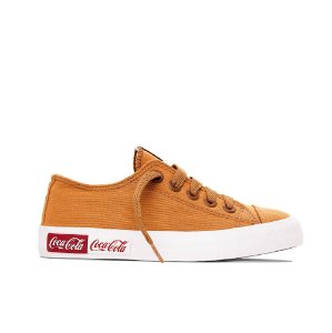 Tênis Coca-Cola Basket Blend Canvas - Caramelo