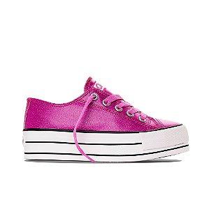 Tênis Capricho Likes Platform Glitter - Pink